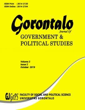 Gorontalo Journal of Government and Political Studies Volume 3 - NO.