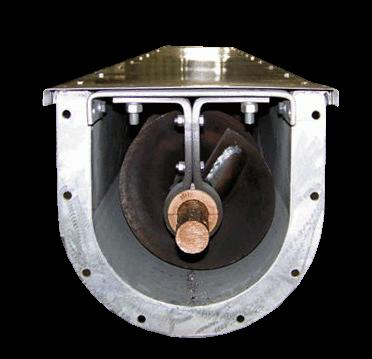 1 Penggunaan Hanger Bearing pada Screw Conveyor (Sumber: http://www.honeyvillemetal.com/products/117/u-trough-augers) N.