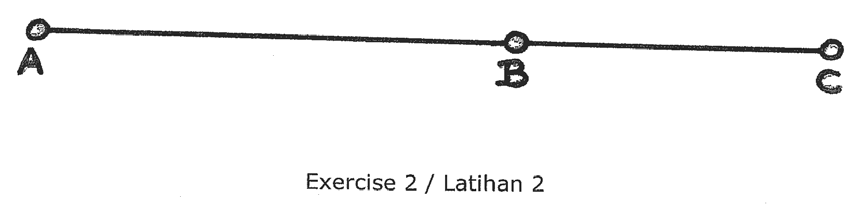 1.4 Exercises Exercise 1: Place two nail steaks A and B approximately 25 meters apart.