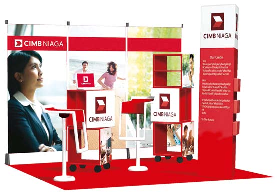 Branch Branded Spaces Figure 49: Branded Spaces Conceptual Design As we roll out the new branch concept and lay the foundation for the new brand, CIMB Niaga branded spaces will continue to be