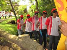 experiental learning. 4. Outbound Training HR Department also provided a special training method called TOT (Tiga Pilar Outbound Training).