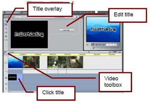 edit. Klik tombol Video Toolbox. Klik tombol Title Overlay.