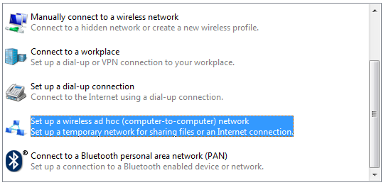 10 Setting ad hoc network di Windows 7 (c) 5. Klik Next.