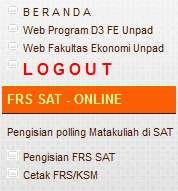 User Level : Menu FRS SAT Online Sub Menu dan Deskripsi