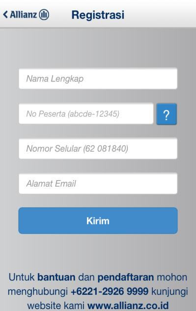 Condition A. Saya Setuju / I Agree: Klik pada tombol akan menampilkan halaman pendaftaran / Click on the button will redirect to the registration page. B.