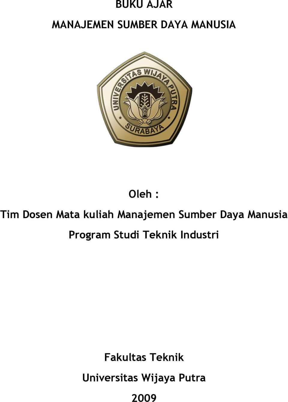 Sumber Daya Manusia Program Studi Teknik