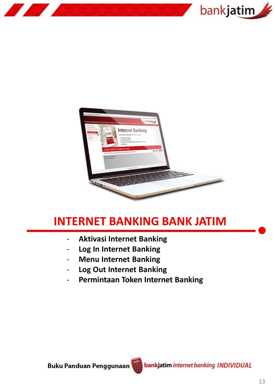 - Menu Internet Banking - Log Out Internet