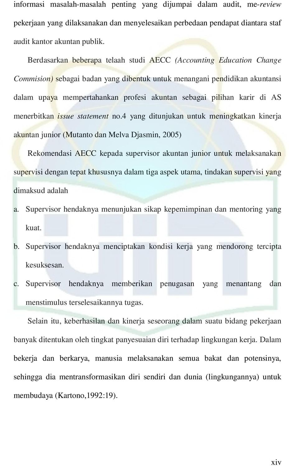 pilihan karir di AS menerbitkan issue statement no.
