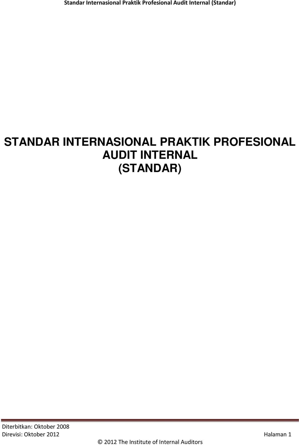 AUDIT INTERNAL (STANDAR)