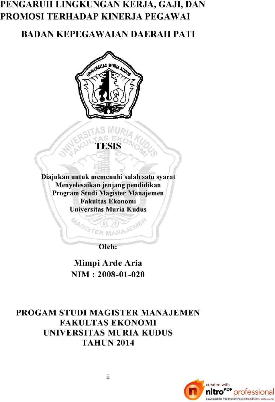 contoh proposal tesis mm ugm