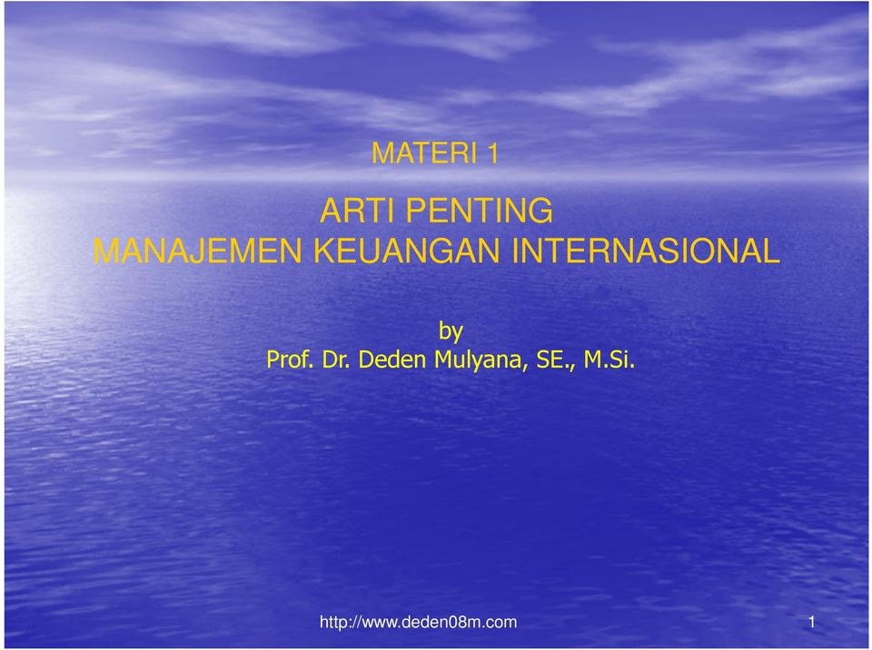 INTERNASIONAL by Prof. Dr.