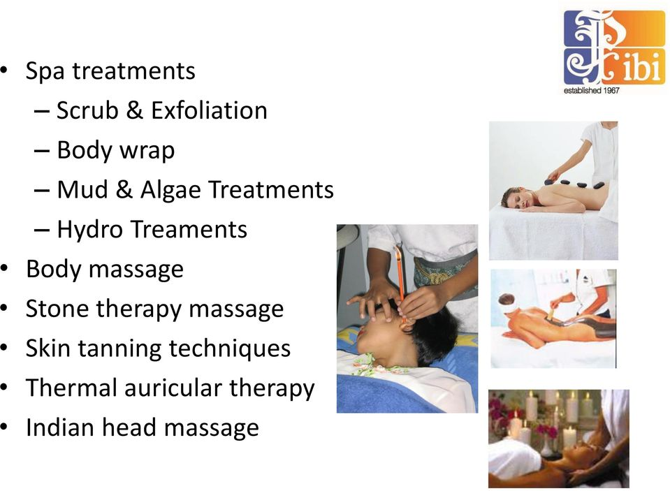 massage Stone therapy massage Skin tanning