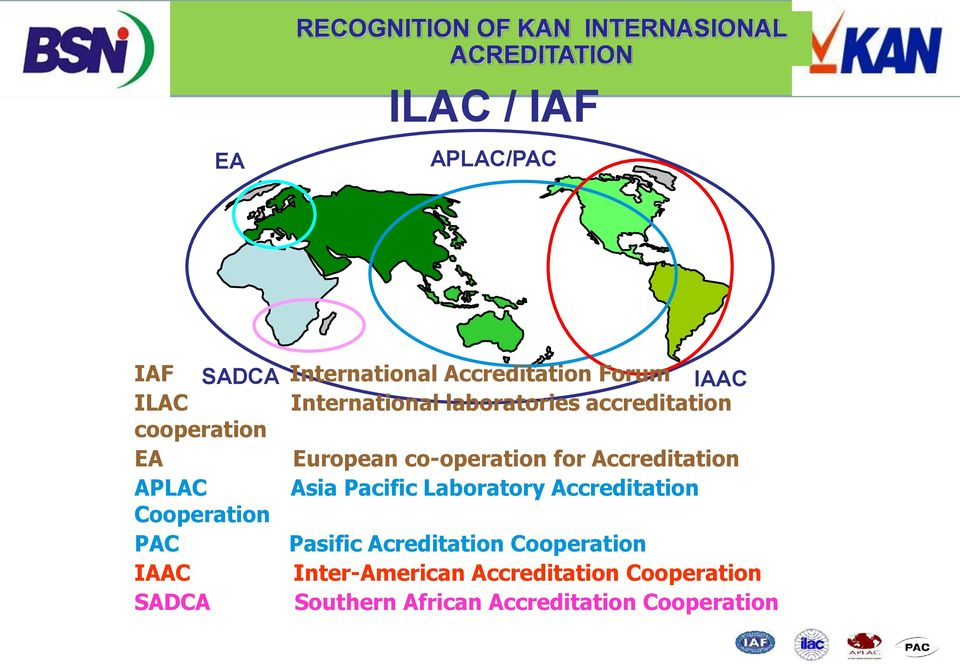 accreditation European co-operation for Accreditation Asia Pacific Laboratory Accreditation Pasific