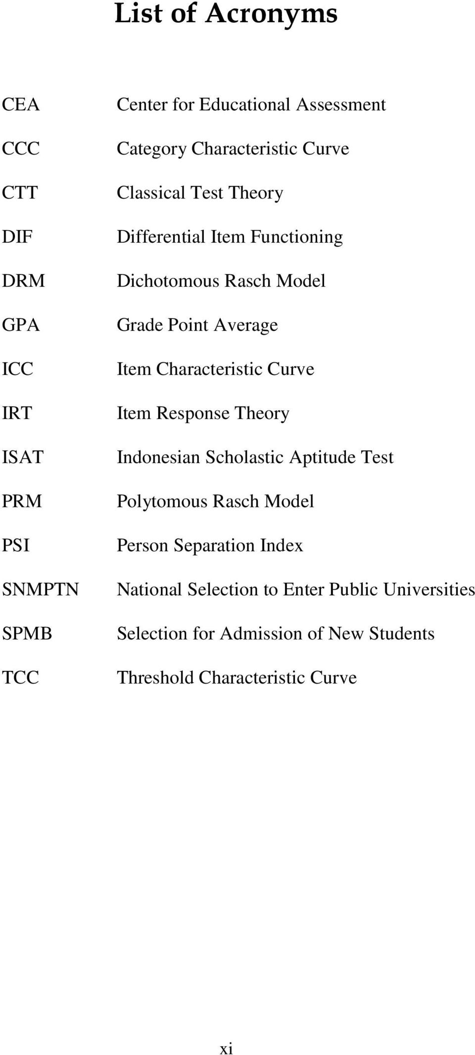 Characteristic Curve Item Response Theory Indonesian Scholastic Aptitude Test Polytomous Rasch Model Person Separation