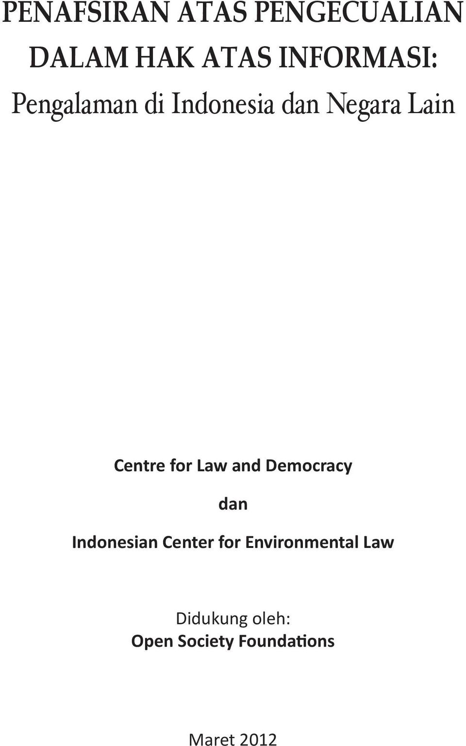 Democracy dan Indonesian Center for