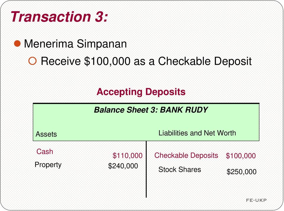 RUDY Assets Liabilities and Net Worth Cash $110,000