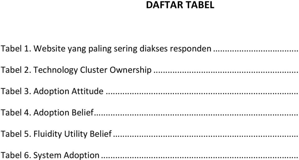 Technology Cluster Ownership... Tabel 3.