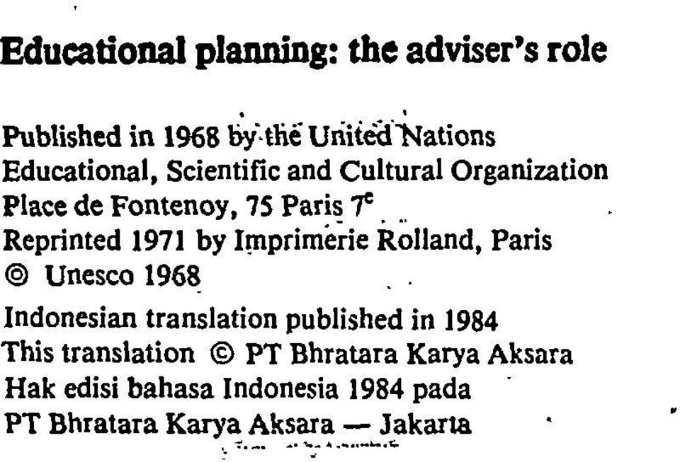 Imprimerie Rolland, Paris @ Unesco 1968 Indonesian translation published in 1984 This