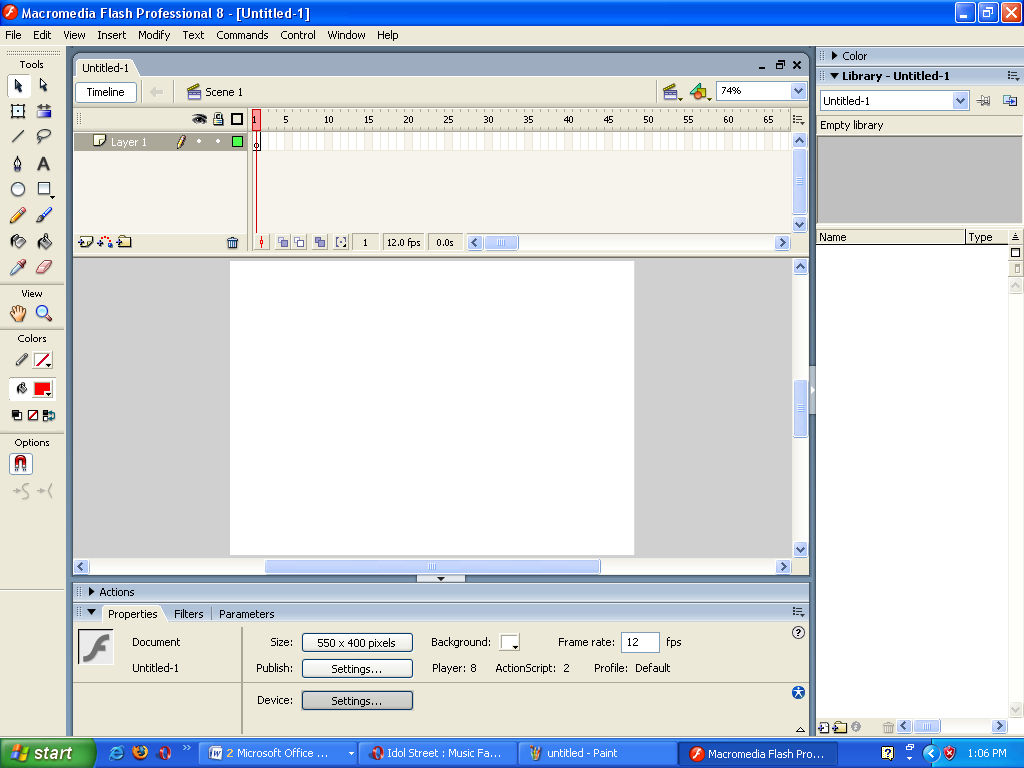 2 Membuat Dokumen Baru a. Pilih Menu File > New. b.