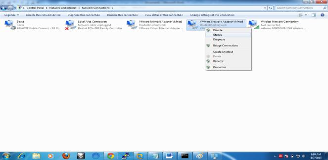 Masuk ke ne control panel ->> pilih network and internet ->> lalu pilih network and sharing