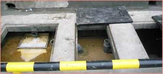 Gambar 4.1 : Foto Oil Trap. CO = Celean out, WC = Water Closed, FD = Floor Drain Gambar 4.