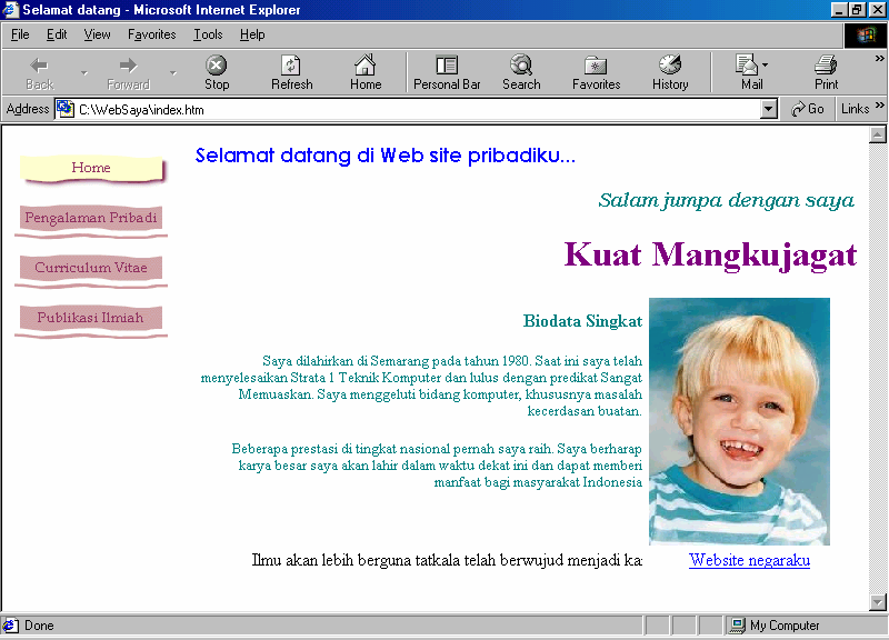Modul Workshop : Membuat Website Personal 12 64. Klik Preview. Gambar 24 Bagaimana membuat website yang kompleks?