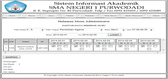 MENU PROGRAM LOGIN ADMIN 1.