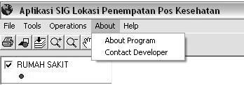 4.22 Tampilan Menu About Klik About Program pada menu About, apabila