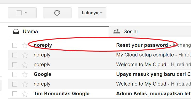 6. Cek email masuk dengan subjek: Reset your password 7.