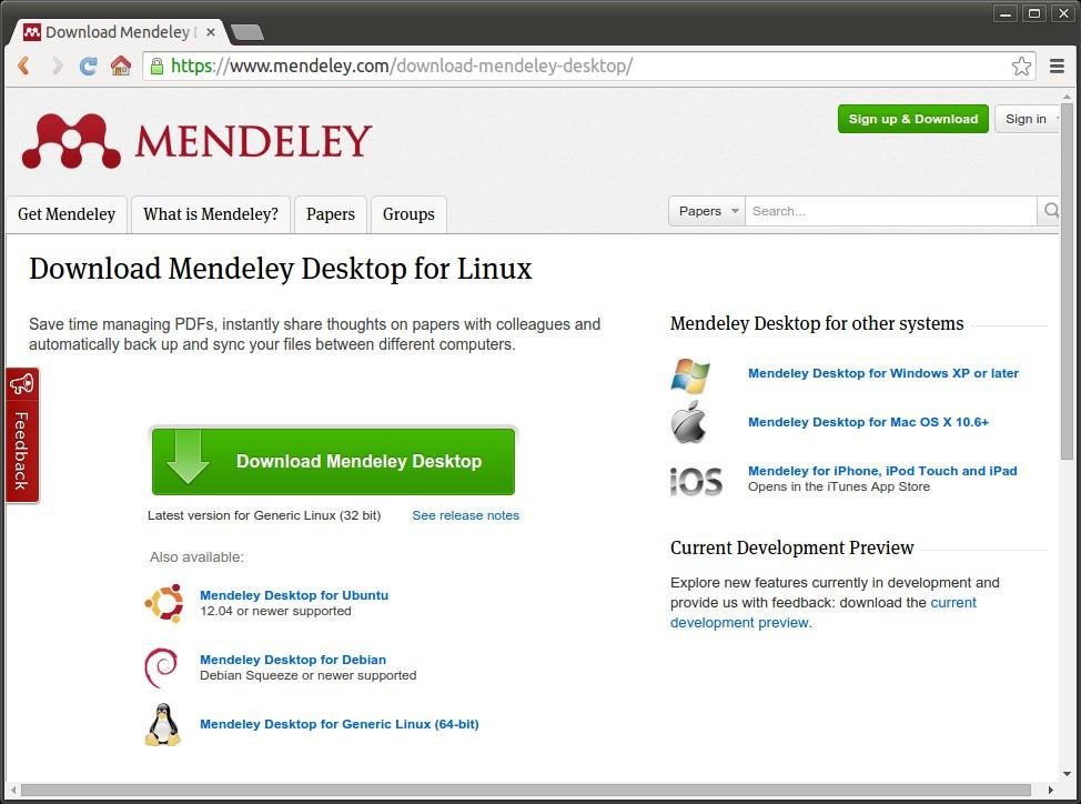 mendeley desktop download