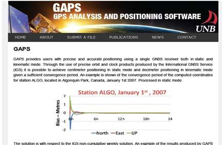 a) Canada (GPS Analysis and Positioning Software (GAPS)) dari