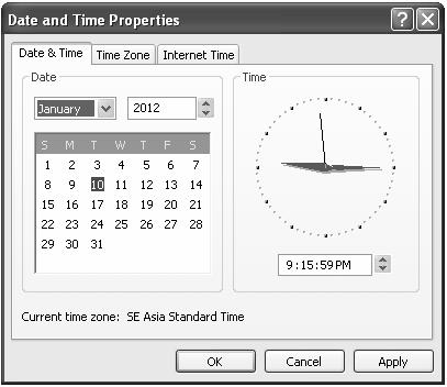 Gambar 6.12 Date and Time Properties 15. Kembali ke layar Photoshop, lalu klik menu Edit Paste. 16.