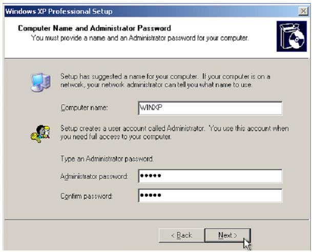 Computer Name and Administrator Password Isi