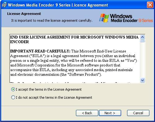 Berikutnya pilih I accept the terms in the License