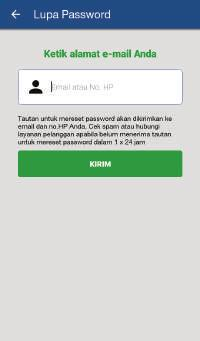Pada menu Login, pilih Lupa Password?