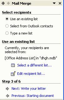 Create sehingga tampil kotak dialog New Address List.