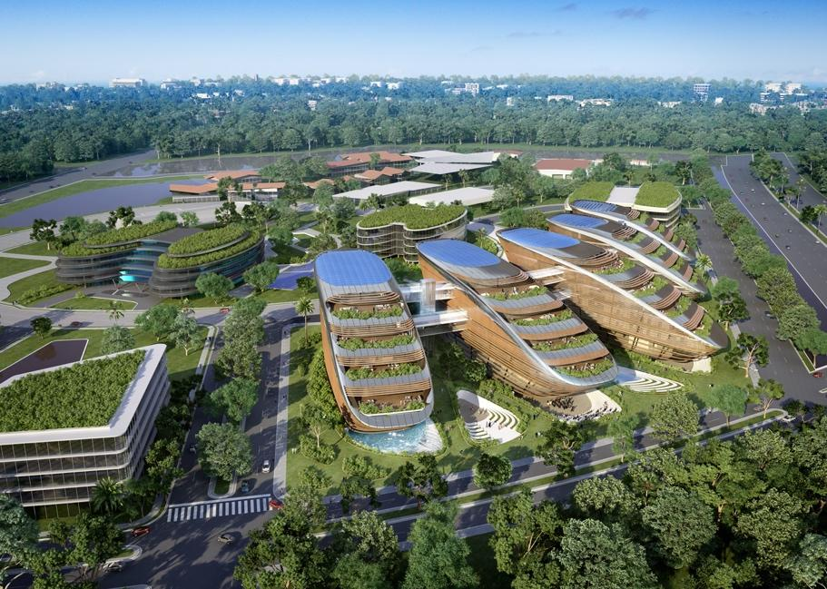 2.2.5.2.! Green Office Park 5 BSD City Gambar 2.3. Green Office Park 5 Design BSD City Sumber : http://www.uha.