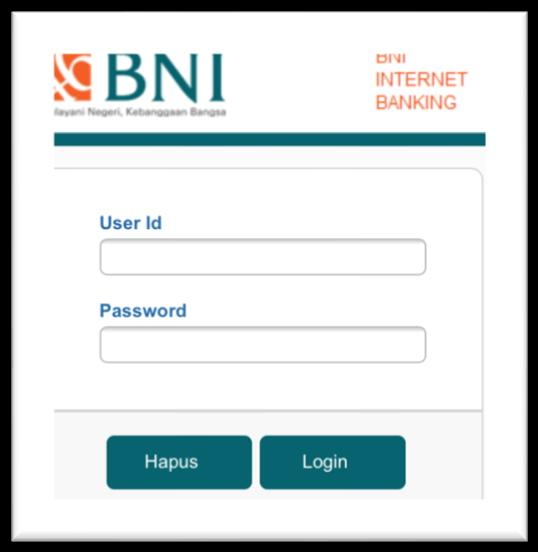 Ketik alamat https://ibank.bni.co.