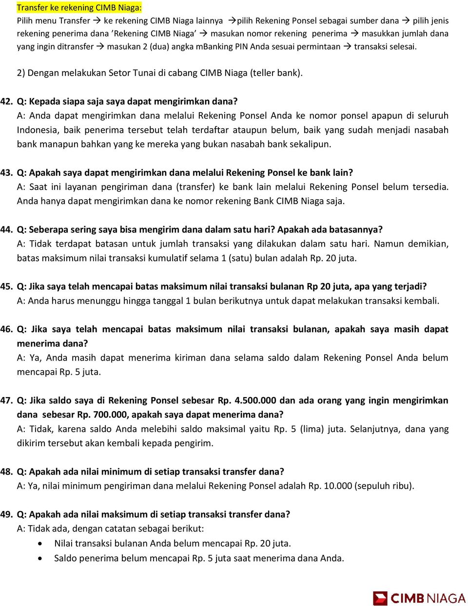 Frequently Asked Questions Faq Rekening Ponsel Pdf Free Download