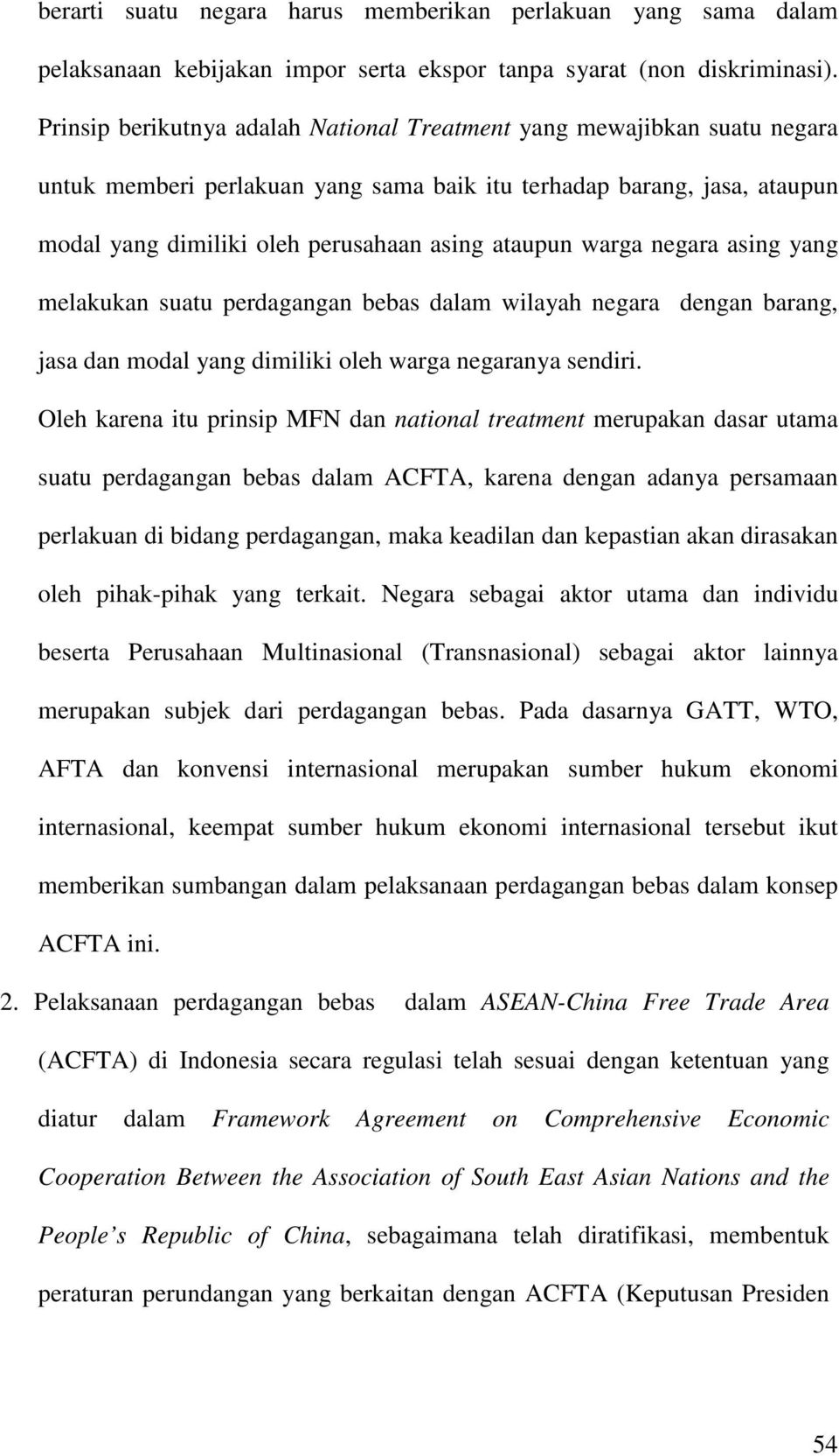 Pengaturan Perdagangan Bebas Dalam Asean China Free Trade Areal Acfta Dan Implementasinya Di Indonesia Pdf Download Gratis
