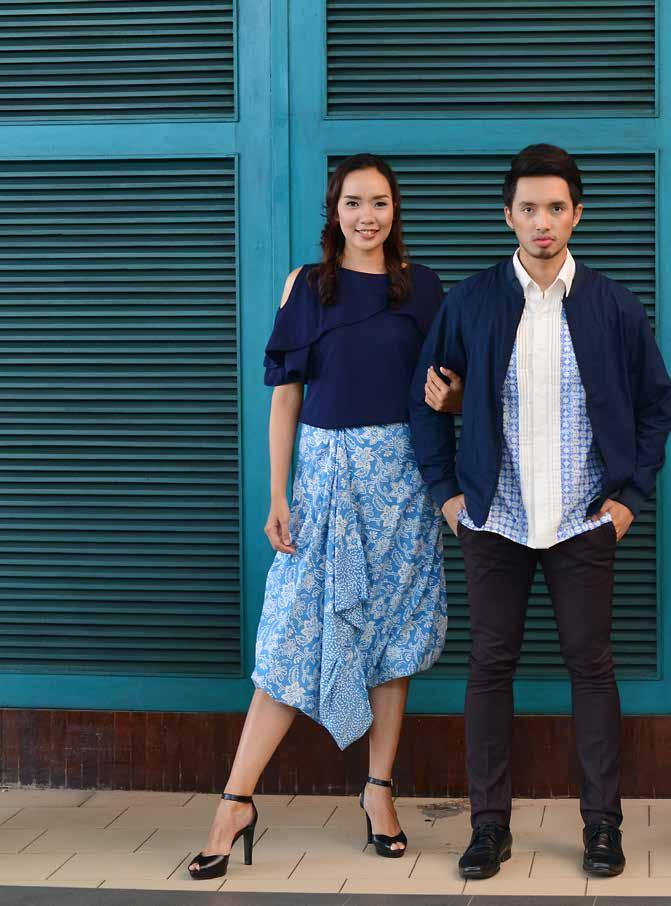 48955111c63 FASHIONABLE boulevard Batik for Ev RARA Navy blouse by Rodeo at STAR  Department Store Wide aladdin